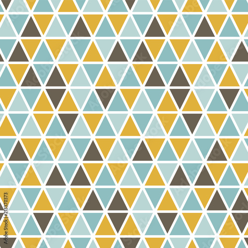 Spoed Foto op Canvas Kunstmatig Seamless pattern with random triangles. Scandinavian style. Abstract geometric vector background.