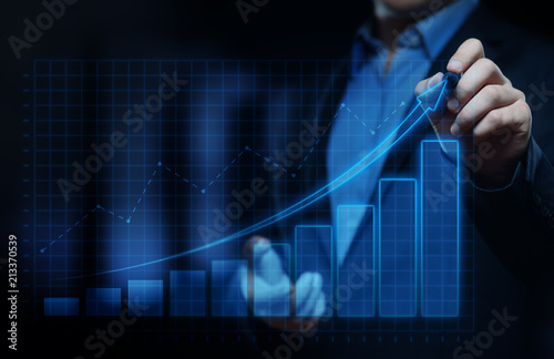 Financial Graph. Stock Market chart. Forex Investment Business Internet Technology concept - fototapety na wymiar