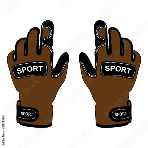 Sport gloves isolated on white background.Gloves for active rest in vector.Insulated gloves vector illustration. Wall mural