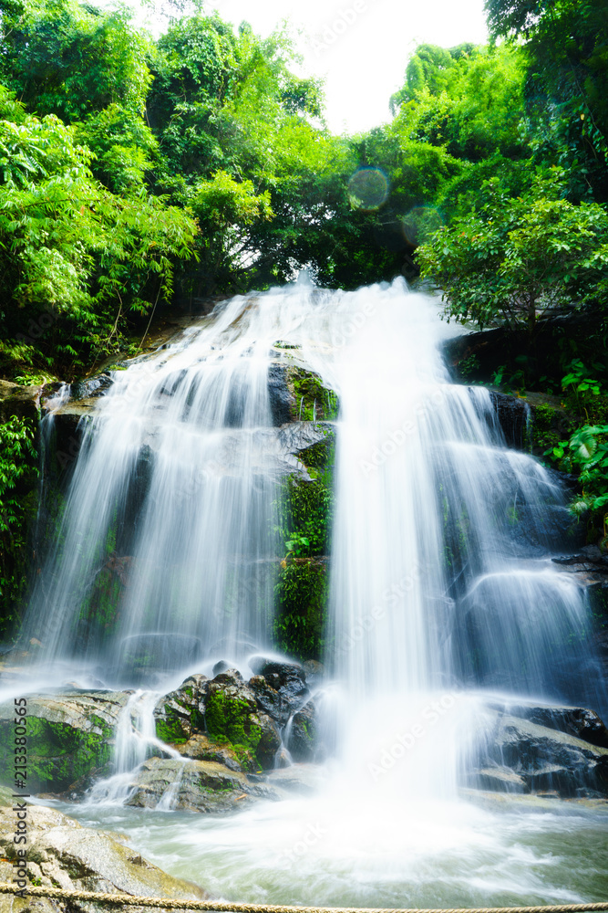 SAIKU waterfall in national park  it is beautiful at southern, Thailand