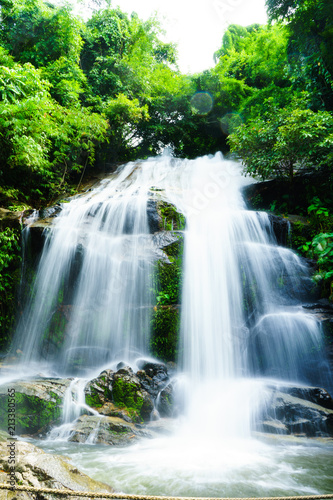 Ingelijste posters Watervallen SAIKU waterfall in national park it is beautiful at southern, Thailand