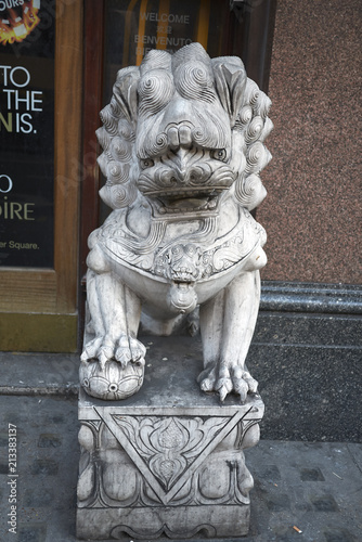 London, United Kingdom - June 26, 2018 : Chinese lion Poster
