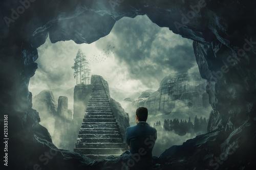 Fototapeta premium uciec z ciemnej jaskini
