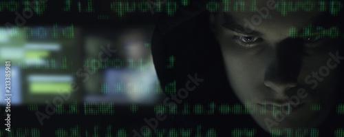 Photo Cool your hacker portrait in the dark