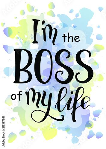 ilustracja-wektorowa-z-kaligrafii-napis-motywacyjny-frazy-jestem-szefem-mojego