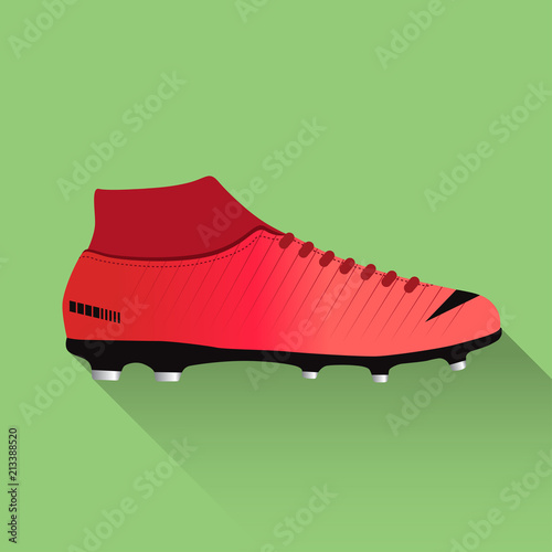 Photo Soccer boot illustration. Flat design. Vector illustration.
