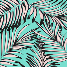 Vector Summer Exotic Floral Tr...