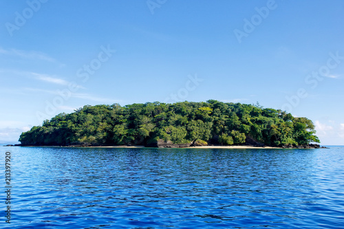 Staande foto Eiland Small island off the coast of Taveuni, Fiji