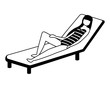 woman in swimsuit on the deck chair