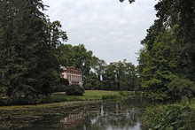 Schoenbusch Castle With Lake In The Historic Park