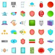 Computer database icons set. Cartoon style of 36 computer database vector icons for web isolated on white background