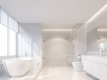 Modern Luxury White Bathroom 3...