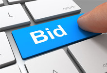 Bid Button Concept 3d Illustra...