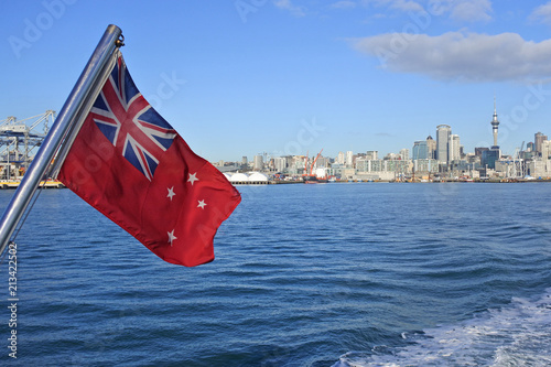 Fotobehang Oceanië The New Zealand Red Ensign