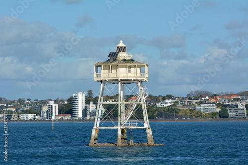 Fotobehang Oceanië Bean Rock Lighthouse Auckland New Zealand