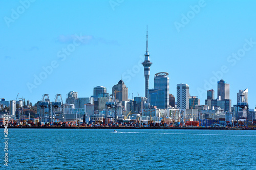 Foto op Canvas Oceanië Auckland city skyline Waitemata harbour New Zealand