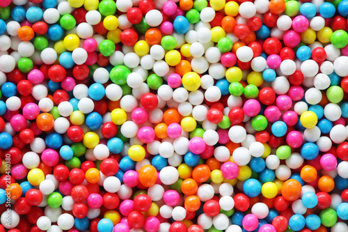 close up of colorful sprinkle sugar background.