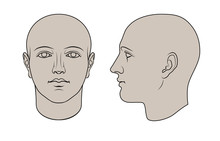 Hand Drawn Human Head In Face ...