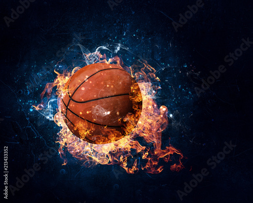 Basketball game concept Canvas Print