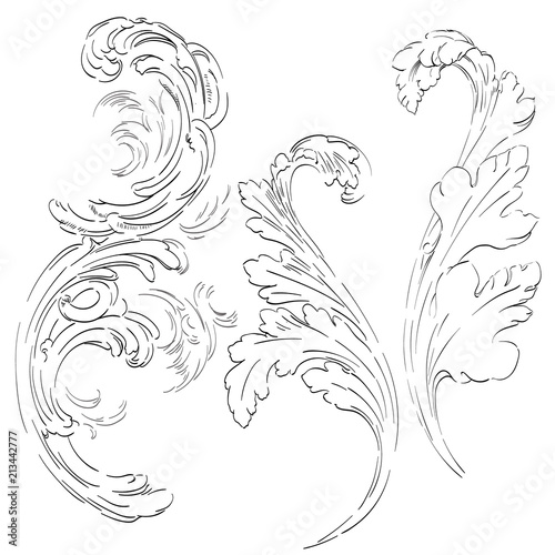 acanthus leaf vector victorian baroque ornaments border frame decoration buy this stock vector and explore similar vectors at adobe stock adobe stock acanthus leaf vector victorian baroque