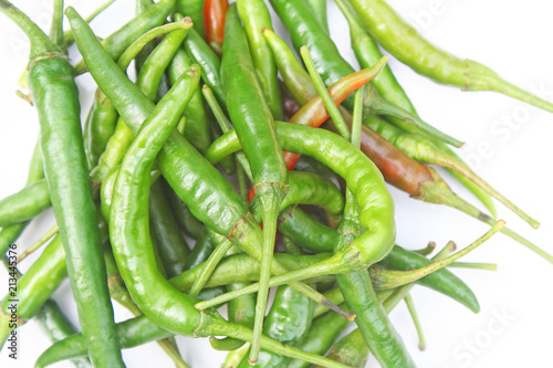 Top view long fed pepper