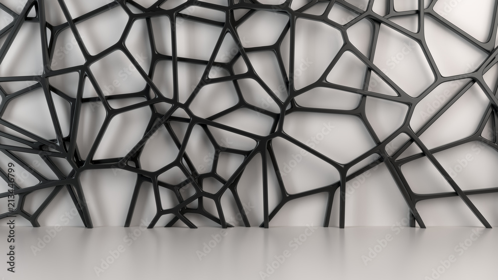 Fototapeta Abstract 3d grate on white background