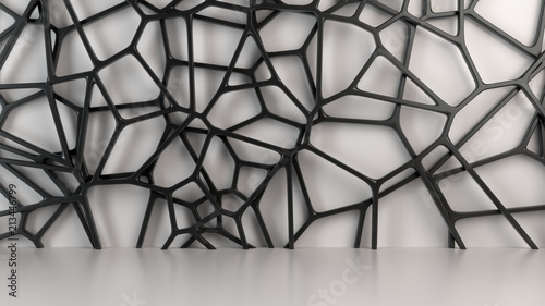 Abstract 3d grate on white ...