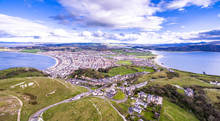 Aerial View Of Llandudno In Wales, United Kingdom