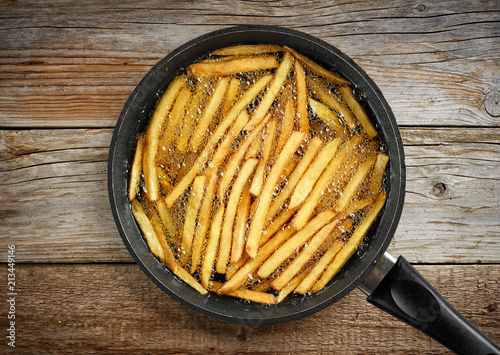 Stampa su Tela frying french fries