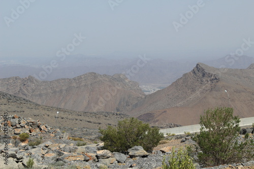 Foto op Canvas Bleke violet mountains Jabal Akhdar in Oman