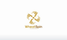 Spin Wheat Logo Designs, Bakery, Bakehouse Logo Or Label. Mill, Windmill