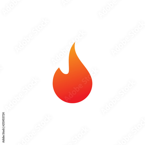 Fototapeta Fire logo or icon design template