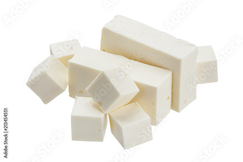 Feta isolated on white background