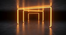 Futuristic Sci Fi Orange Neon ...