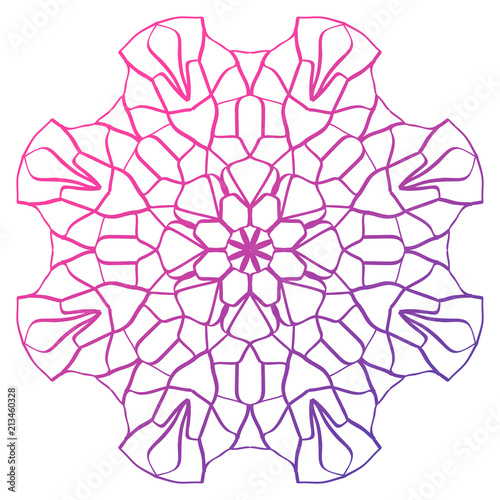 colorful mandala pattern for logo design  coloring books Tableau sur Toile