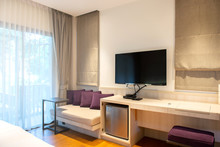 Interior Hotel Room With LED T...