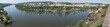 Panoramic view of river Vltava in Prague from Vysehrad
