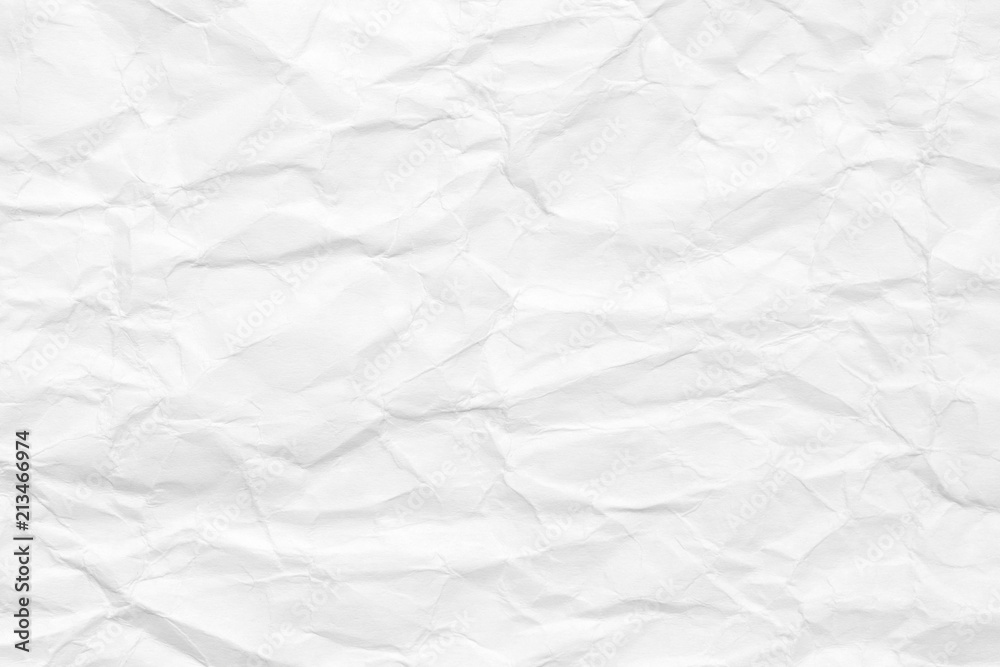 Fototapety, obrazy: The background is white. Texture of paper with kinks and dents, old and dilapidated.