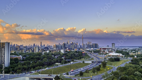 Obraz na płótnie Widok z lotu ptaka Toronto miasto od above, Toronto, Ontario, Kanada