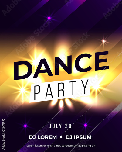 Dance party poster vector background template © rosewind