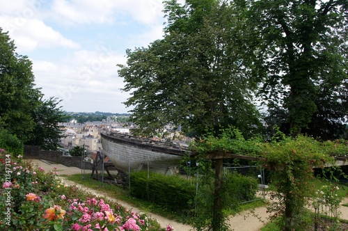 Jardin de la Perrine et barque d'Alain Gerbault Canvas Print
