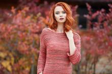 Beautiful Girl Autumn Portrait