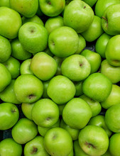 Green Apples Isolated Vertical Image