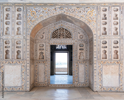 Foto op Canvas Vestingwerk Agra Fort in Agra, Uttar Pradesh, India. UNESCO world heritage. Agra Fort designed and built by the great Mughal ruler Akbar, in about 1565 A.D.