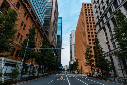 Zdjęcie XXL tokio ulica i drapacze chmur