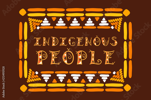International Day of the World Indigenous People Canvas Print