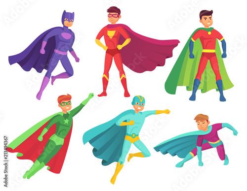 Obraz na płótnie Superhero man characters