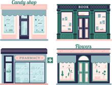 Modern Stores Set. Candy Shop ...