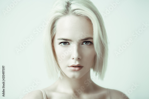 woman with nude makeup