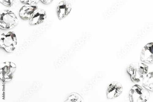 Photo diamond on white background